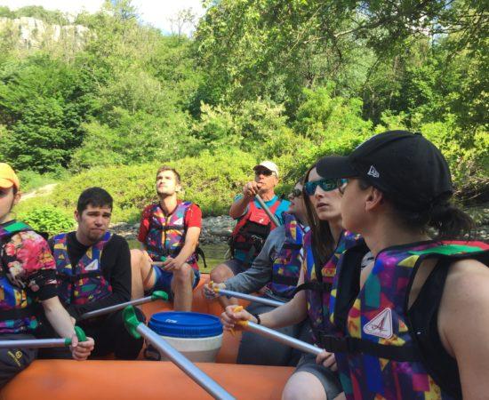 Descente «Rando-Raft» sur le Chassezac en Ardèche