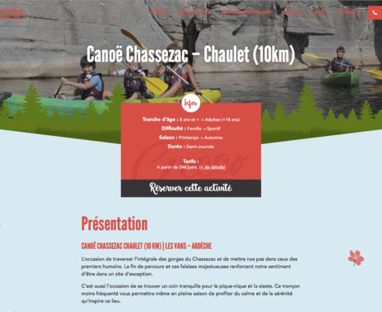 Réservation descente en Canoë en Ardèche